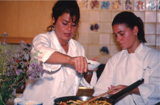 Donna Scala Cooking Class at Trefethen in the 2000s